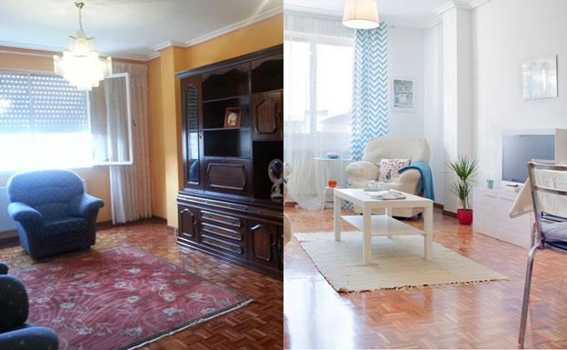 Un salon reformado con criterios de 'home staging'.
