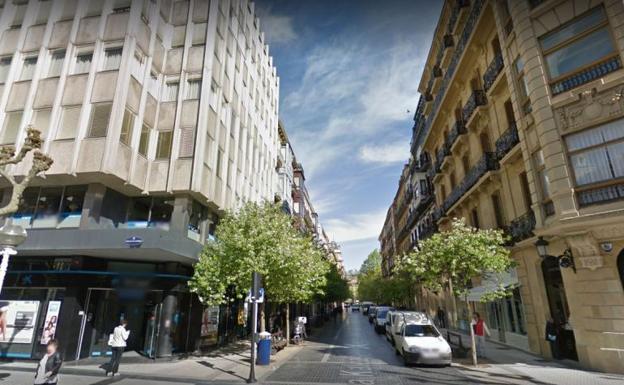 Vista general de la calle Txurruka, en San Sebastián.