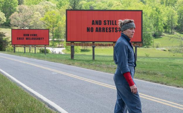 'Three billboards outside Ebbing, Missouri' o 'Tres anuncios en las afueras de Ebbing, Misuri'