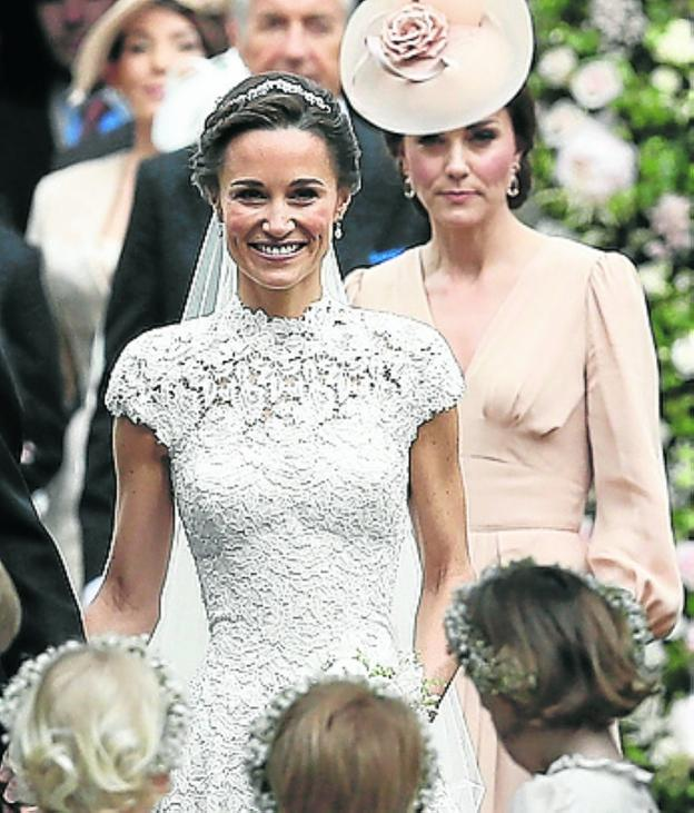 Kate y Pippa Middleton.