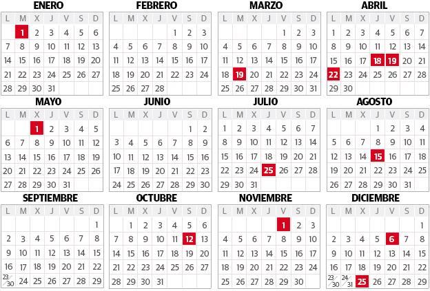 Calendario laboral 2019 pas vasco cinco puentes doce festivos calendario laboral 2019 altavistaventures Gallery