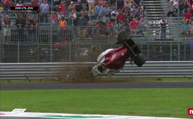 Escalofriante accidente de Ericsson en Monza: ¡vueltas de campana a 350 km/h!