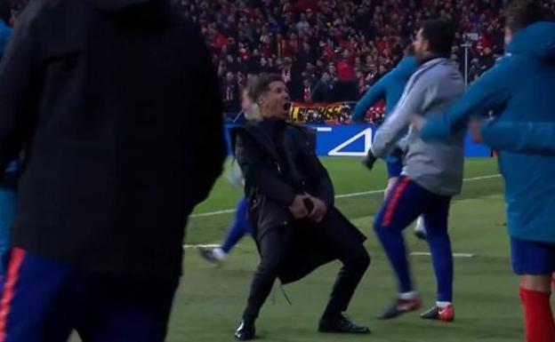 Diego Simeone ya conoce la sanción por el gesto en Champions