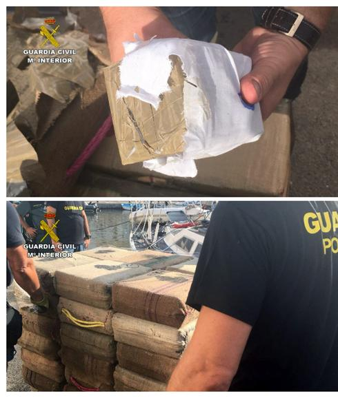 El material incautado por la Guardia Civil./