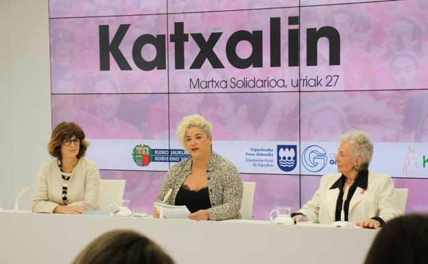 La rueda de prensa celebrada en la Diputación de Gipuzkoa./Arizmendi
