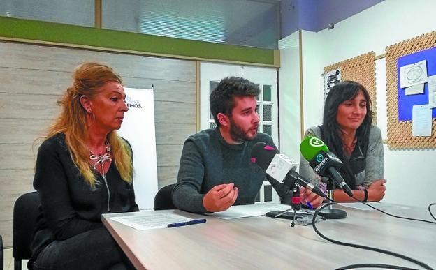 Amaia Peña, David Soto y Miren Echeveste. /  F. DE LA HERA
