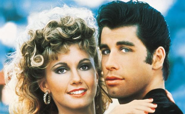 Olivia Newton-John y John Travolta en 'Grease' (1978)./