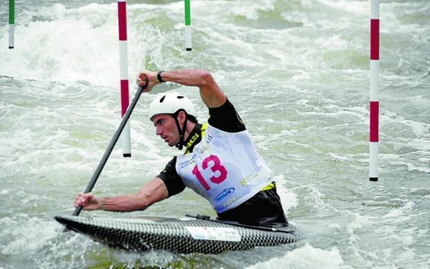 Ander Elosegi ha ganado las dos pruebas de la Copa Pirineos. /