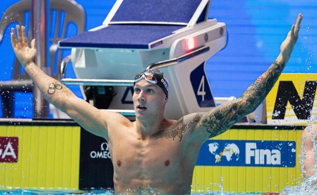 4158aa6a0667 Dressel, el más rápido de la historia en 100 metros sin bañador ...