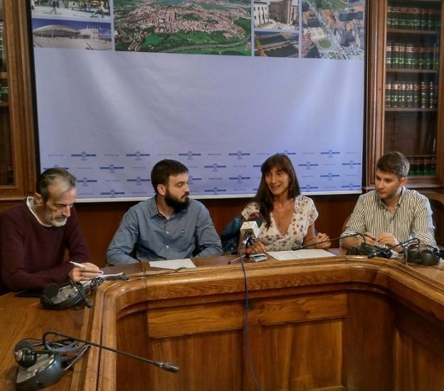 Ediles del grupo Elkarrekin Irun Podemos-IU./F. DE LA HERA