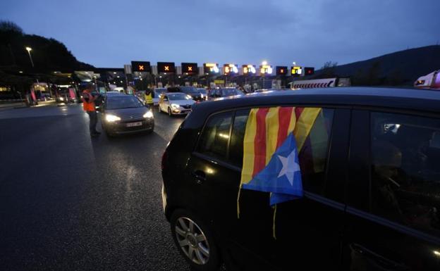 Protesta de Tsunami Democràtic en la muga/Lobo Altuna