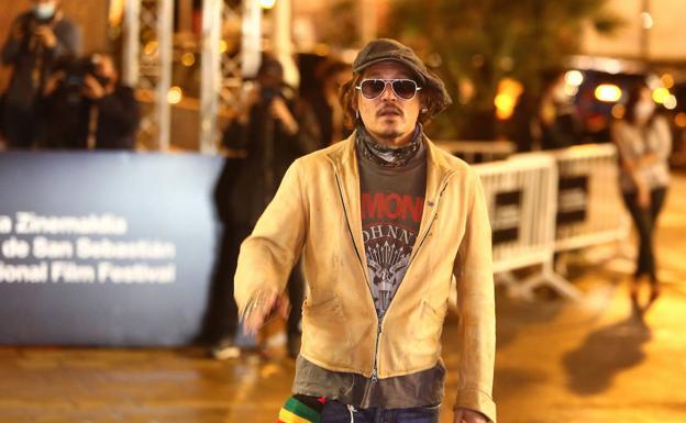 Johnny Depp y la estrella sirimiri en el Festival de Cine de San Sebastián