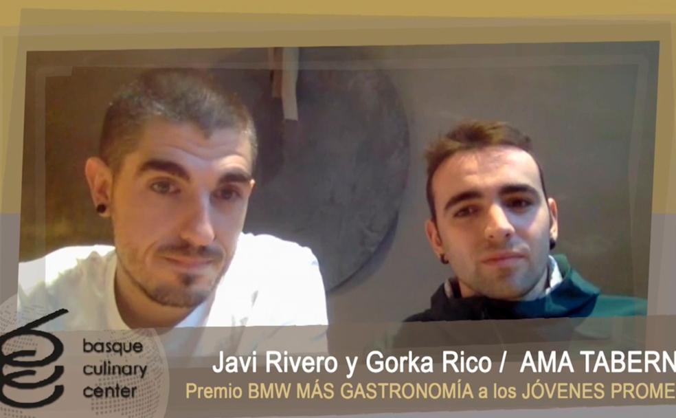 Premio BMW More Gastronomy 2020 a las jóvenes promesas: Javi Rivero y Gorca Rico de Ama Taberna