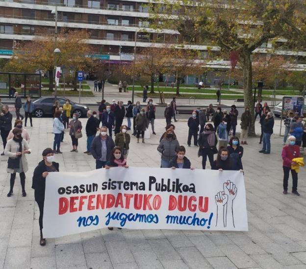 Manifestación en defensa del sistema público de salud