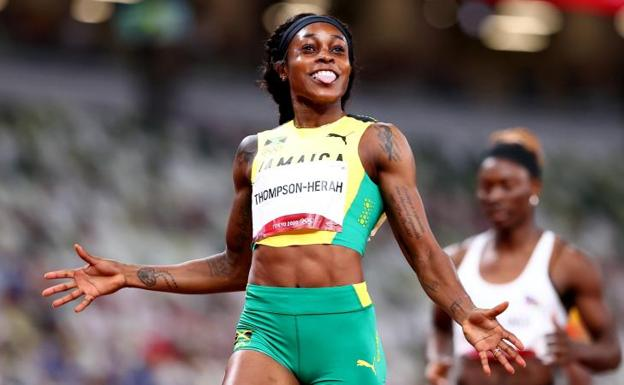 Elaine Thompson-Herrah, after winning the 200m.