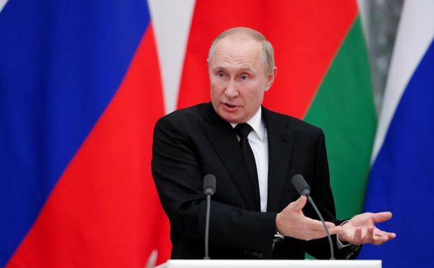 Vladimir Putin, during an appearance on September 9.