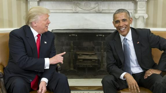Donald Trump y Barack Obama./